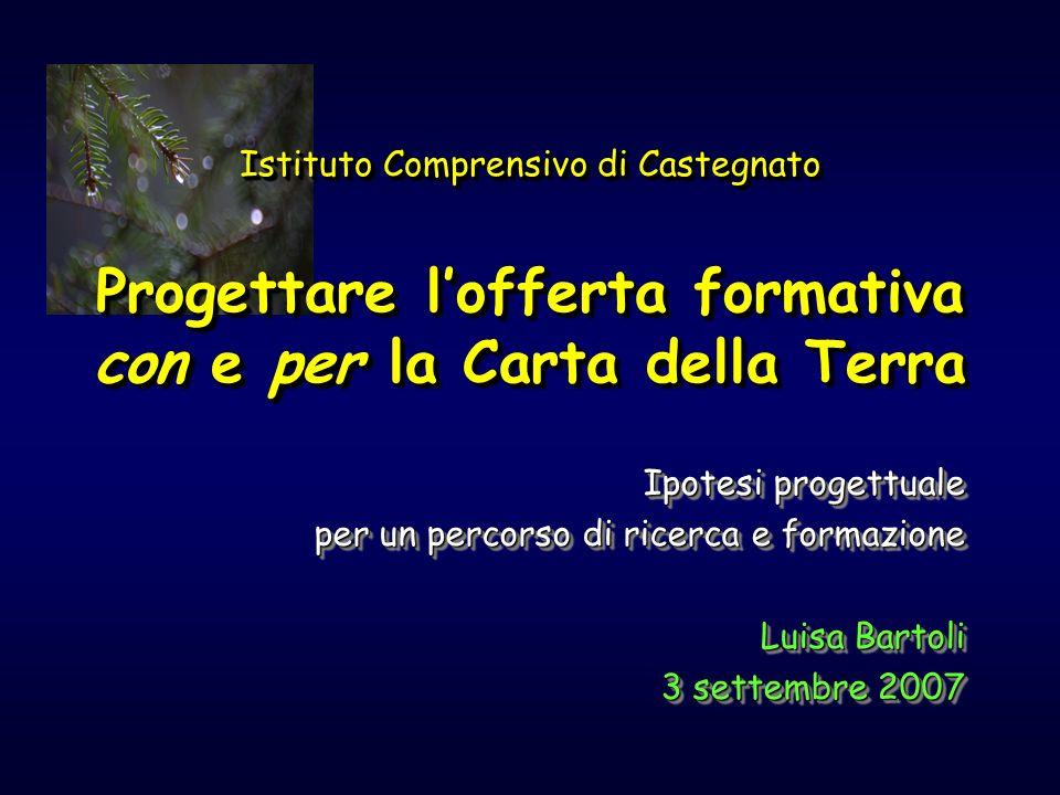 Ipotesi progettuale per un percorso di ricerca e formazione Luisa Bartoli 3 settembre 2007 3 settembre 2007 Ipotesi progettuale per un percorso di ric
