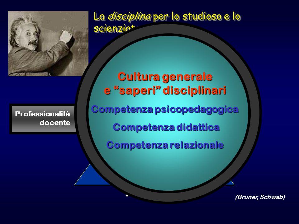 SIGNIFICATI PROBLEMI teorie INFORMAZIONI CONCETTI PRINCIPImetodi ABILITA CRITERISTRATEGIE La disciplina per lo studioso e lo scienziato Professionalit
