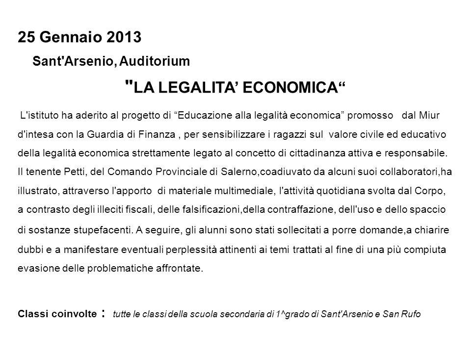 25 Gennaio 2013 Sant'Arsenio, Auditorium