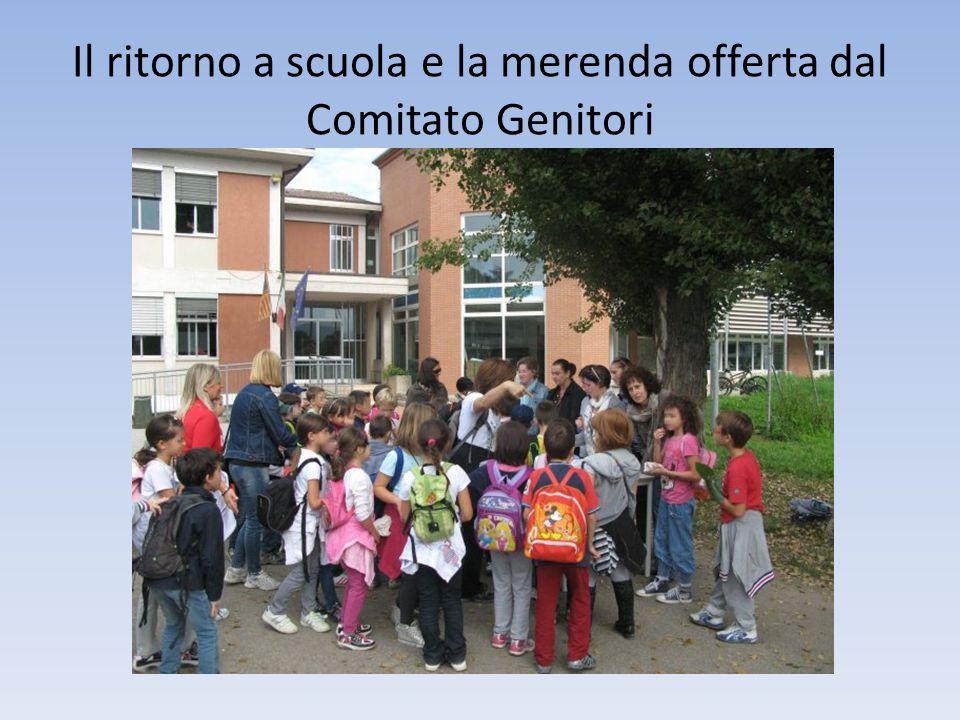 Il ritorno a scuola e la merenda offerta dal Comitato Genitori