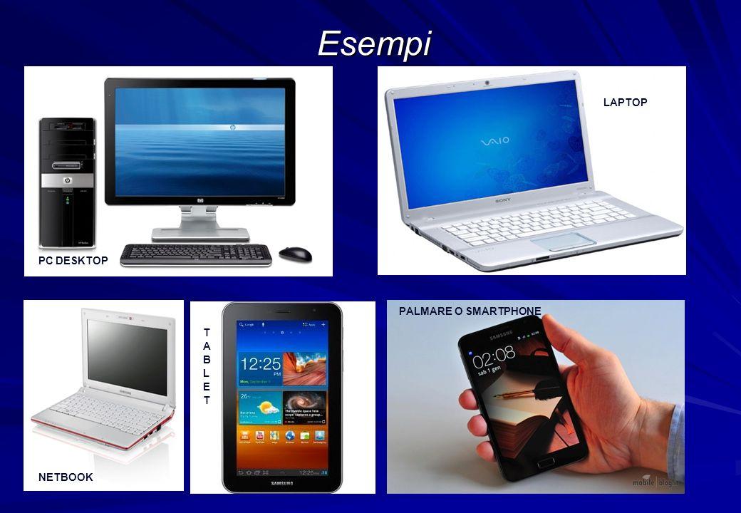 Esempi PC DESKTOP LAPTOP PALMARE O SMARTPHONE NETBOOK