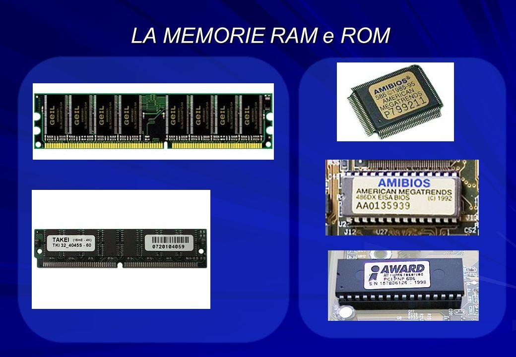 LA MEMORIE RAM e ROM
