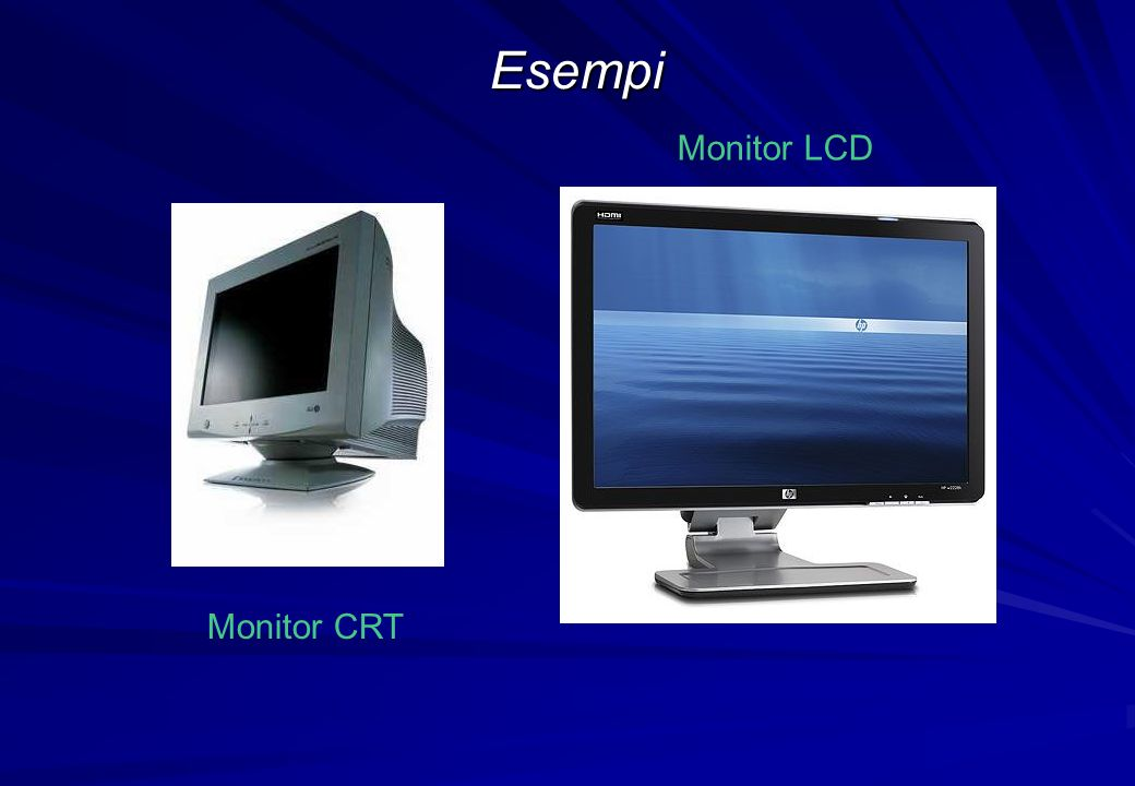 Monitor CRT Monitor LCD Esempi