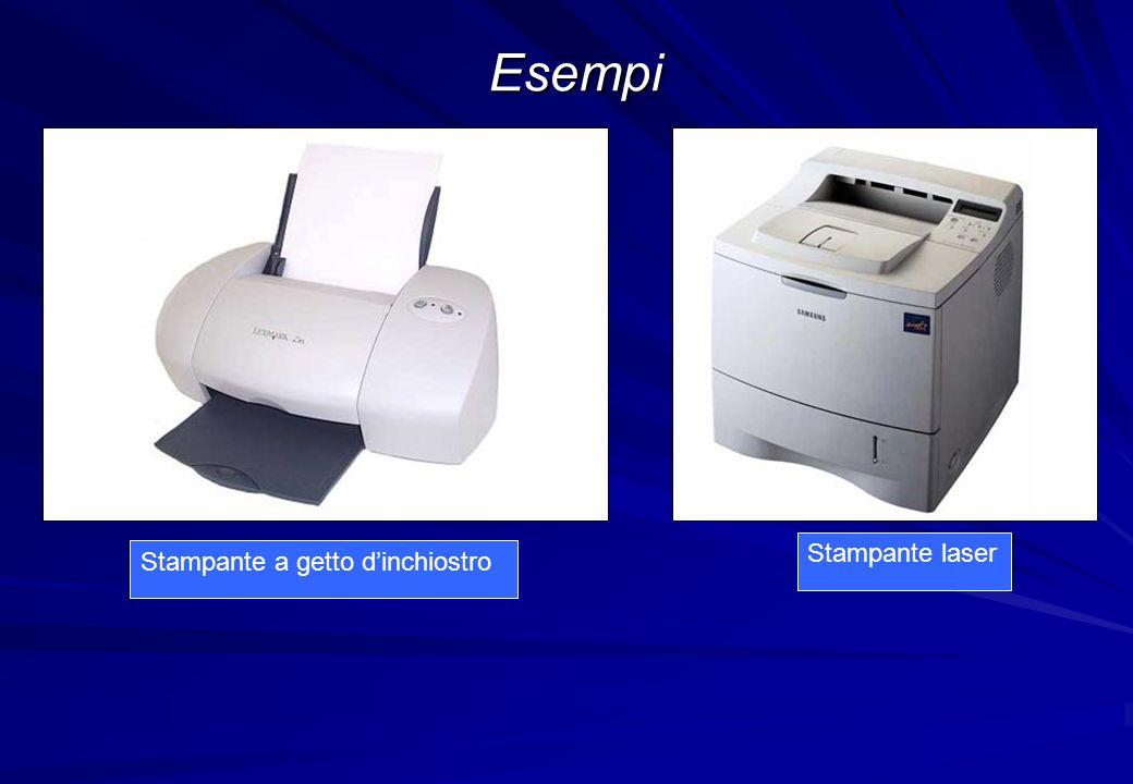 Esempi Stampante a getto dinchiostro Stampante laser