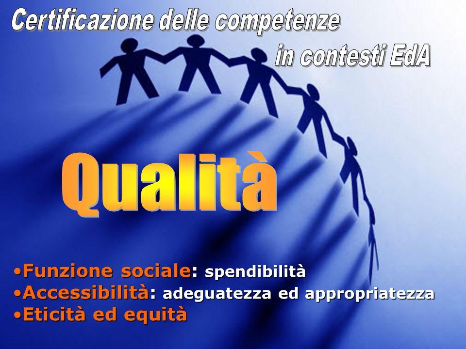 Funzione sociale: spendibilitàFunzione sociale: spendibilità Accessibilità: adeguatezza ed appropriatezzaAccessibilità: adeguatezza ed appropriatezza
