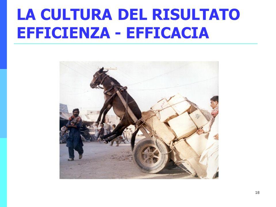 18 LA CULTURA DEL RISULTATO EFFICIENZA - EFFICACIA
