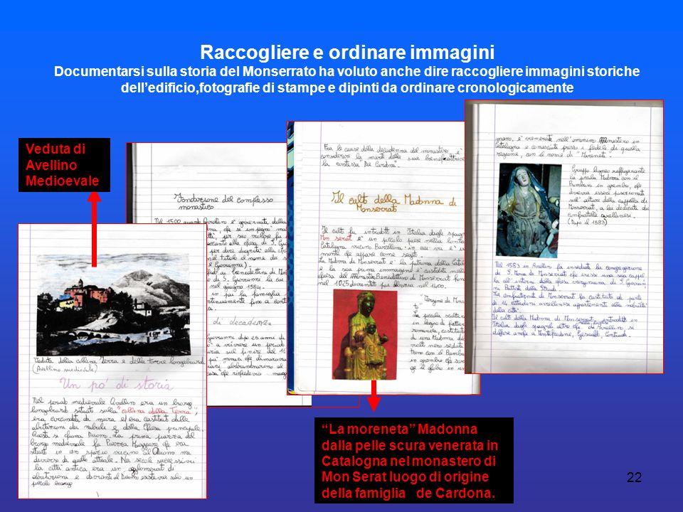 22 Raccogliere e ordinare immagini Documentarsi sulla storia del Monserrato ha voluto anche dire raccogliere immagini storiche delledificio,fotografie