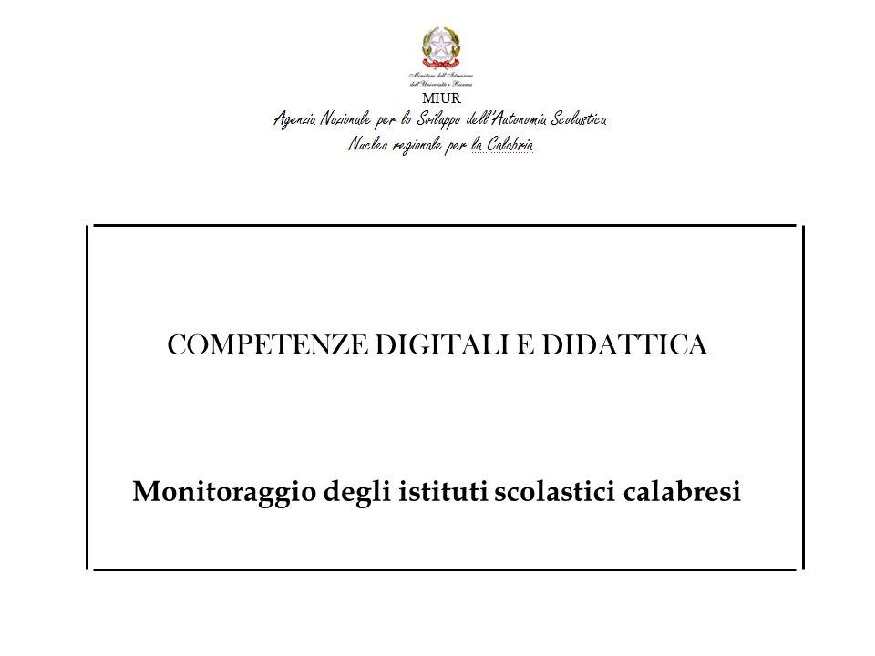 Catanzaro Crotone Vibo Valentia Cosenza Reggio Calabria RISORSE PROFESSIONALI Nella maggior parte delle scuole gli Studenti utilizzano le TIC in orario curricolare ATTENZIONE: Specificare meglio rispetto ai numeri