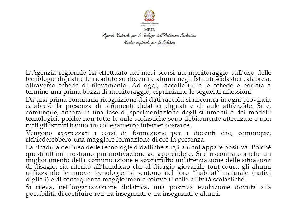 Il 65 % degli Istituti Scolastici Calabresi monitorati PRIMARIE IST.