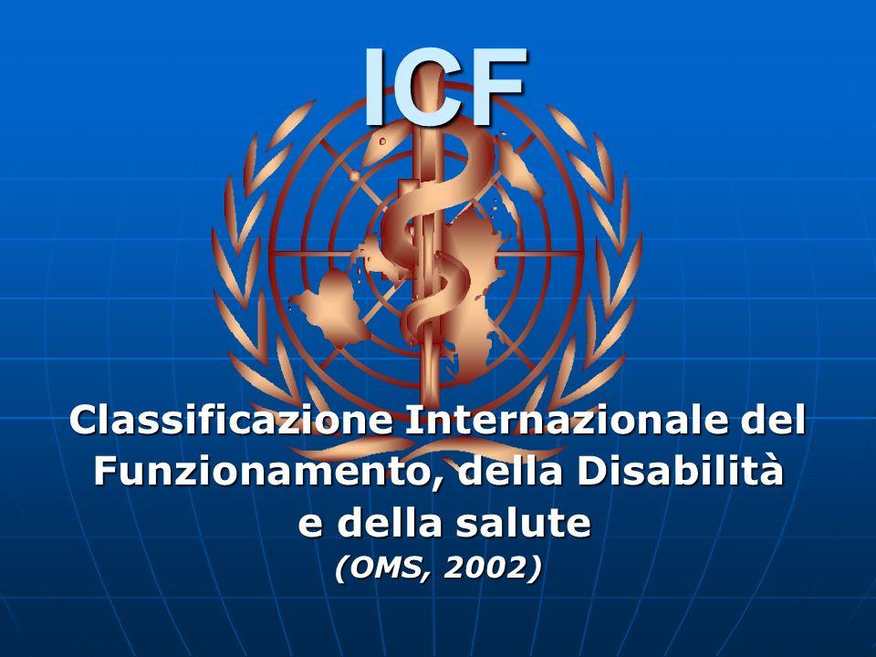 ICF. Classificazione Internazionale del Funzionamento, della Disabilità e della salute (OMS, 2002) e della salute (OMS, 2002)