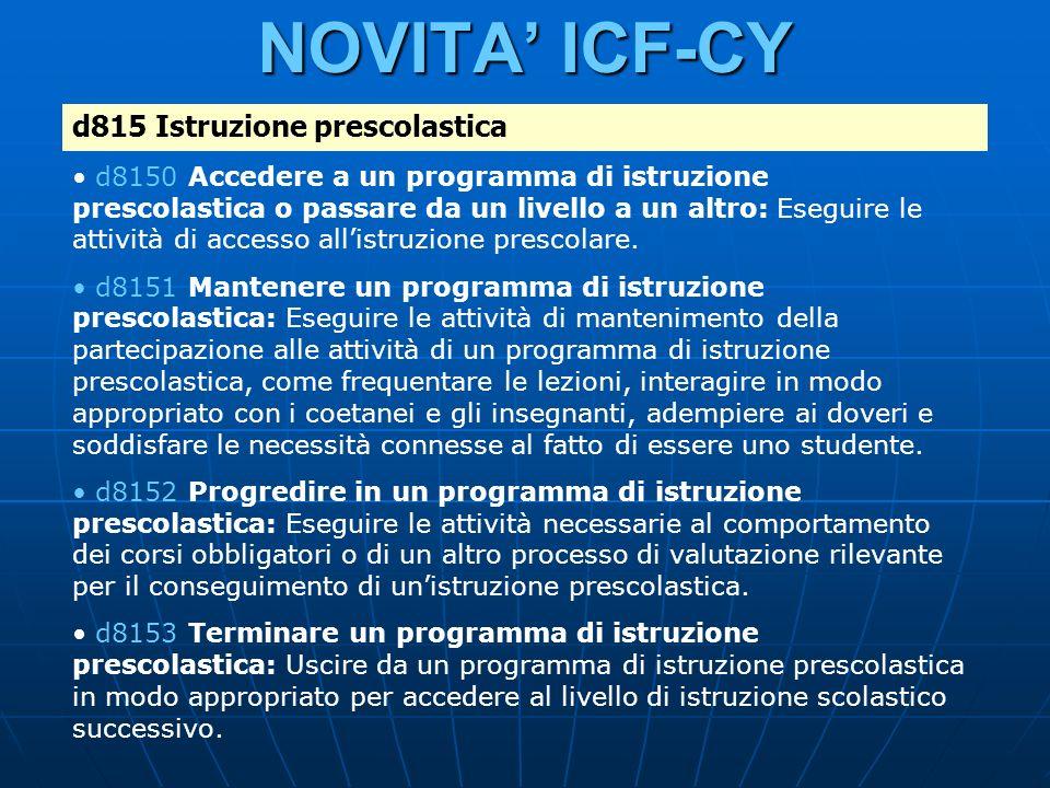 NOVITA ICF-CY d815 Istruzione prescolastica d8150 Accedere a un programma di istruzione prescolastica o passare da un livello a un altro: Eseguire le