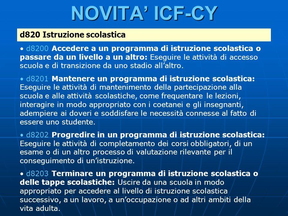 NOVITA ICF-CY d820 Istruzione scolastica d8200 Accedere a un programma di istruzione scolastica o passare da un livello a un altro: Eseguire le attivi
