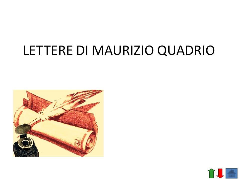 LETTERE DI MAURIZIO QUADRIO