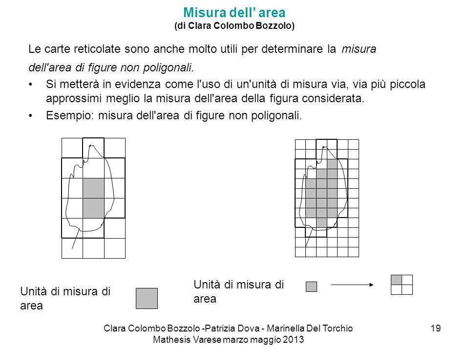 Clara Colombo Bozzolo -Patrizia Dova - Marinella Del Torchio Mathesis Varese marzo maggio 2013 19 Misura dell area (di Clara Colombo Bozzolo) Le carte