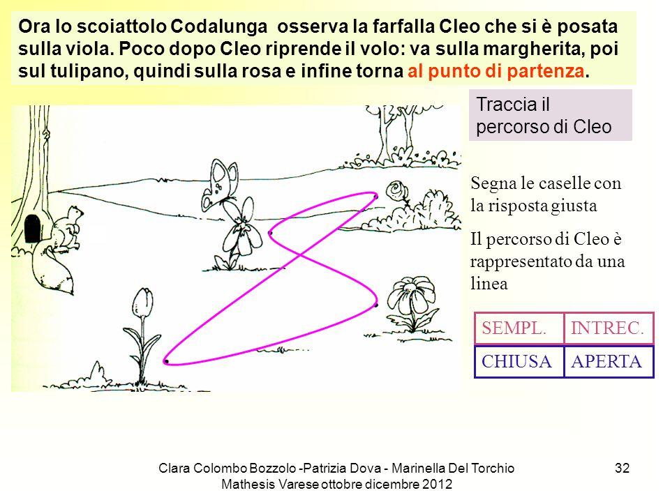 Clara Colombo Bozzolo -Patrizia Dova - Marinella Del Torchio Mathesis Varese ottobre dicembre 2012 32 Ora lo scoiattolo Codalunga osserva la farfalla
