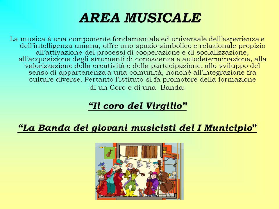 AREA MUSICALE La musica è una componente fondamentale ed universale dellesperienza e dellintelligenza umana, offre uno spazio simbolico e relazionale