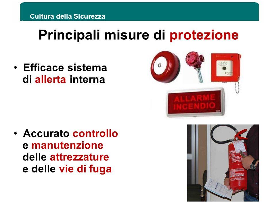 Cultura della Sicurezza 154 Principali misure di protezione Efficace sistema di allerta interna Accurato controllo e manutenzione delle attrezzature e