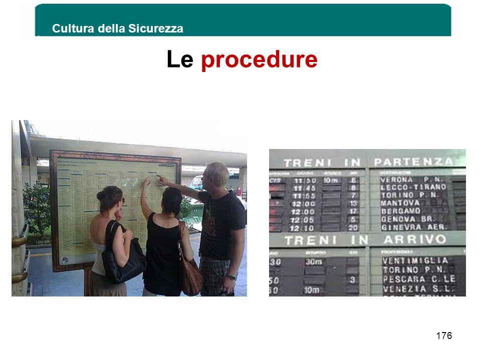 Le procedure Cultura della Sicurezza 176