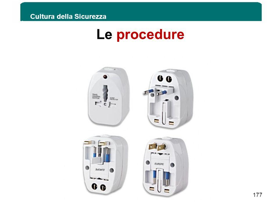 Le procedure Cultura della Sicurezza 177