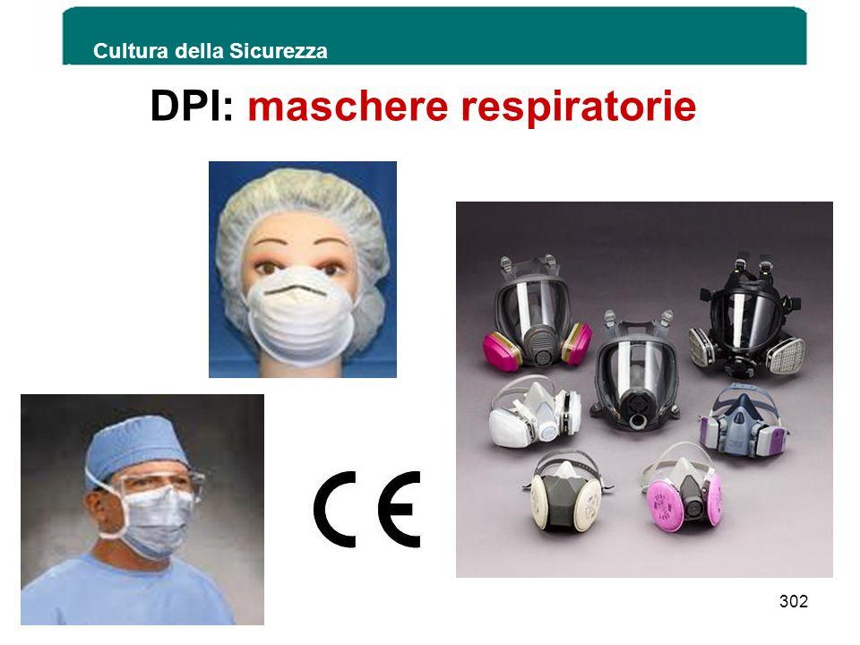 DPI: maschere respiratorie Cultura della Sicurezza 302