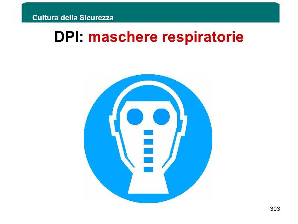 DPI: maschere respiratorie Cultura della Sicurezza 303