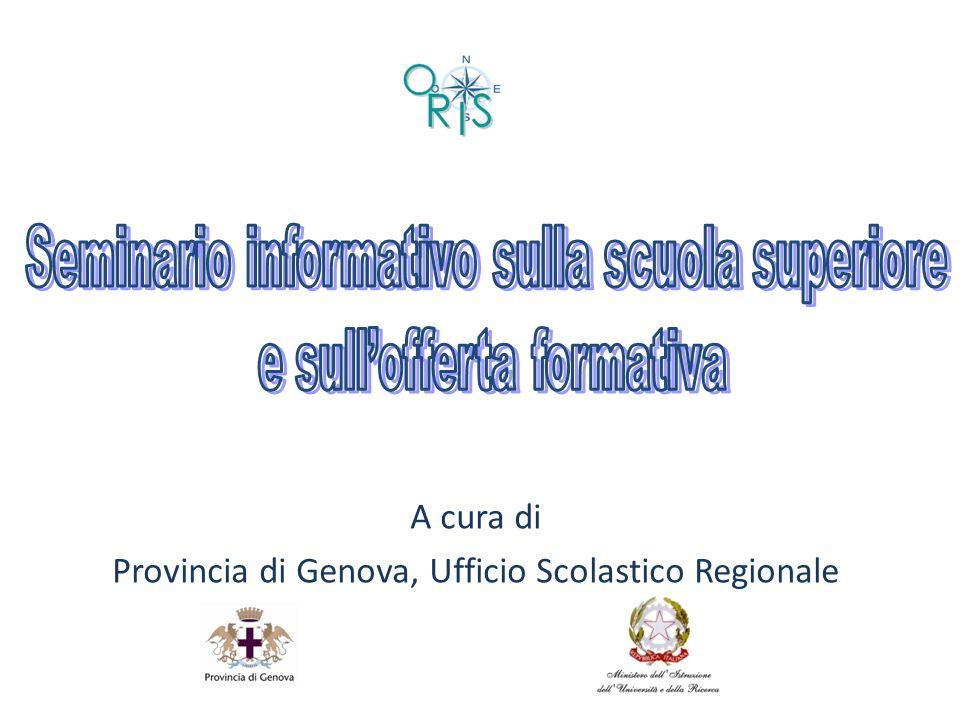 A cura di Provincia di Genova, Ufficio Scolastico Regionale