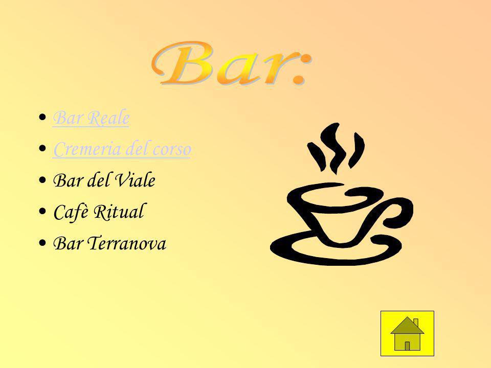Bar Reale Cremeria del corso Bar del Viale Cafè Ritual Bar Terranova