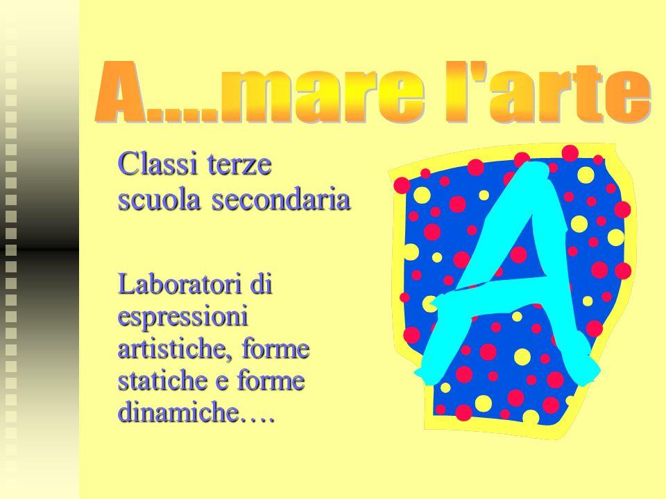 Classi terze scuola secondaria Laboratori di espressioni artistiche, forme statiche e forme dinamiche….