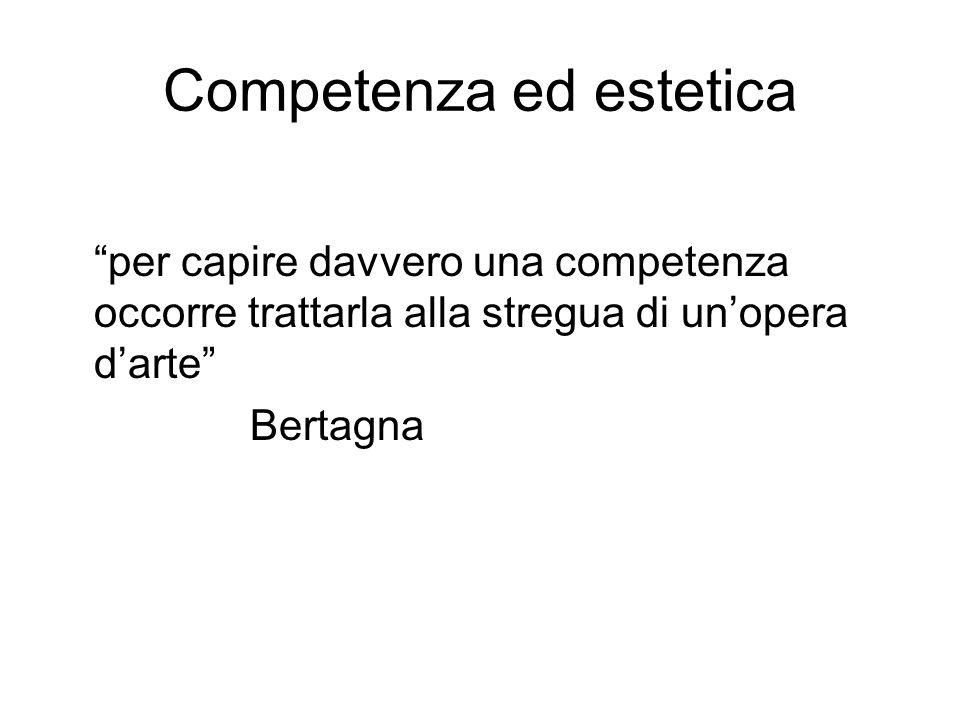 Competenza ed estetica per capire davvero una competenza occorre trattarla alla stregua di unopera darte Bertagna