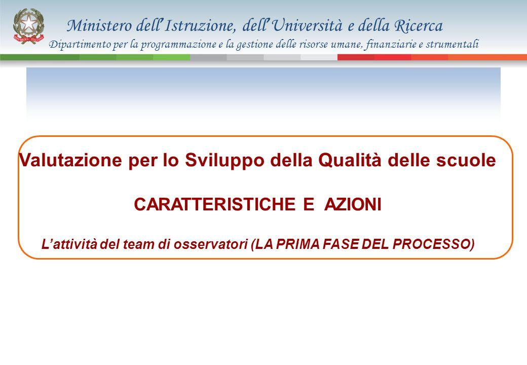 Ministero dell Istruzione, dell Università e della Ricerca Valutazione per lo Sviluppo della Qualità delle scuole CARATTERISTICHE E AZIONI Lattività d
