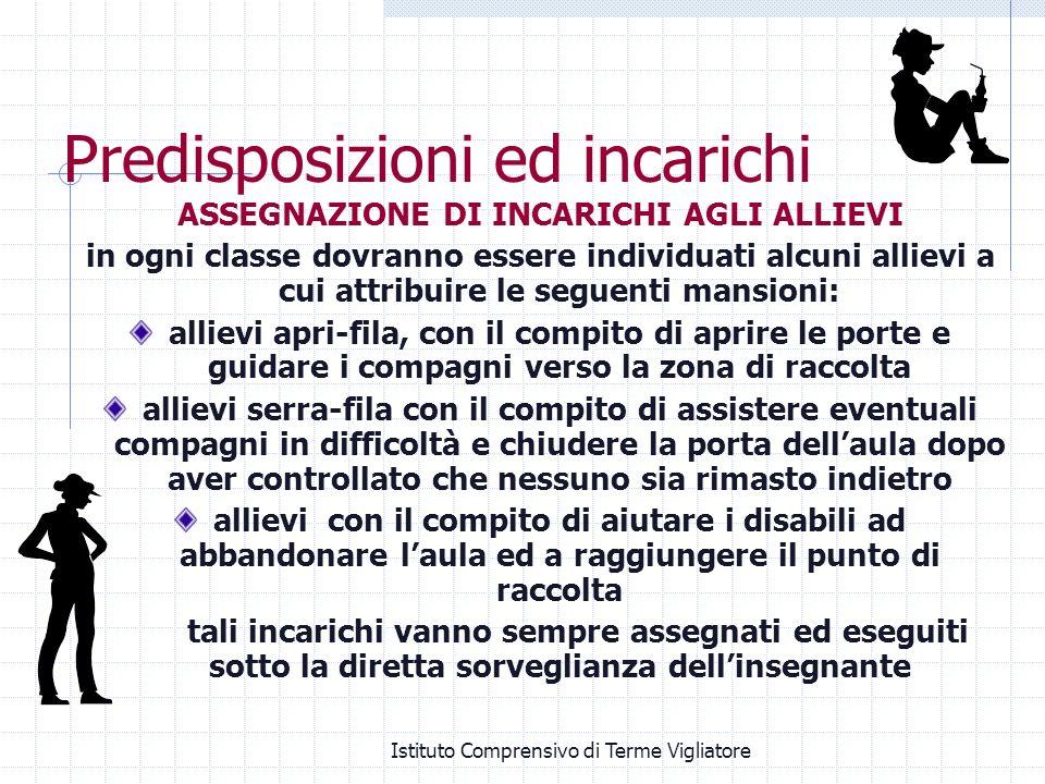 Istituto Comprensivo di Terme Vigliatore Predisposizioni ed incarichi ASSEGNAZIONE DI INCARICHI AGLI ALLIEVI in ogni classe dovranno essere individuat
