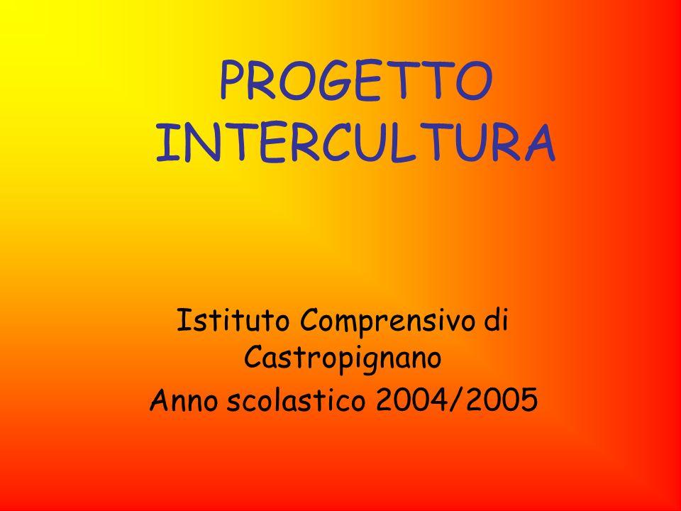 PROGETTO INTERCULTURA Istituto Comprensivo di Castropignano Anno scolastico 2004/2005