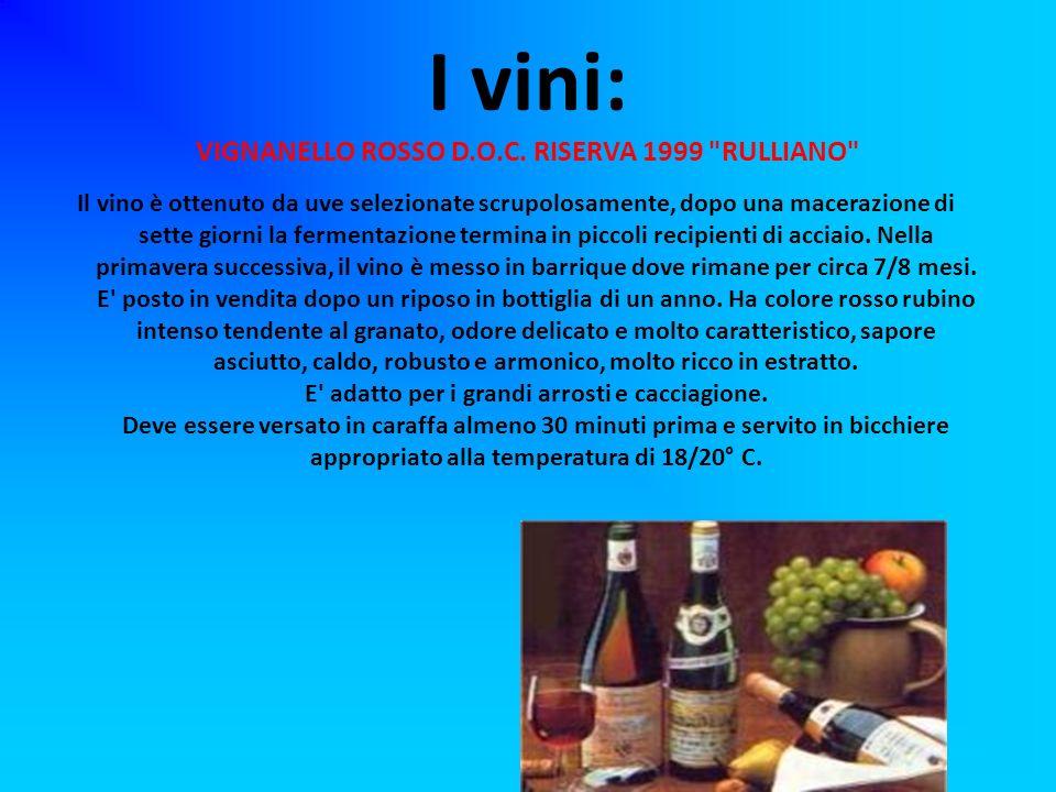 I vini: VIGNANELLO ROSSO D.O.C. RISERVA 1999