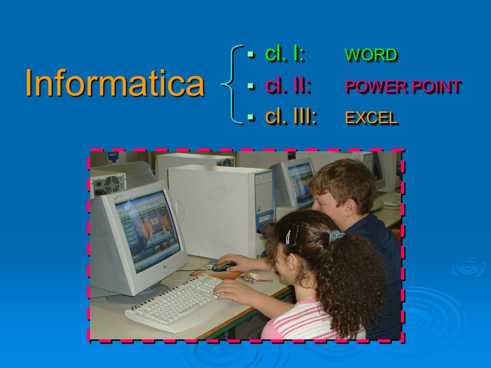 cl. I: WORD cl. I: WORD cl. II: POWER POINT cl. II: POWER POINT cl. III: EXCEL cl. III: EXCEL cl. I: WORD cl. I: WORD cl. II: POWER POINT cl. II: POWE