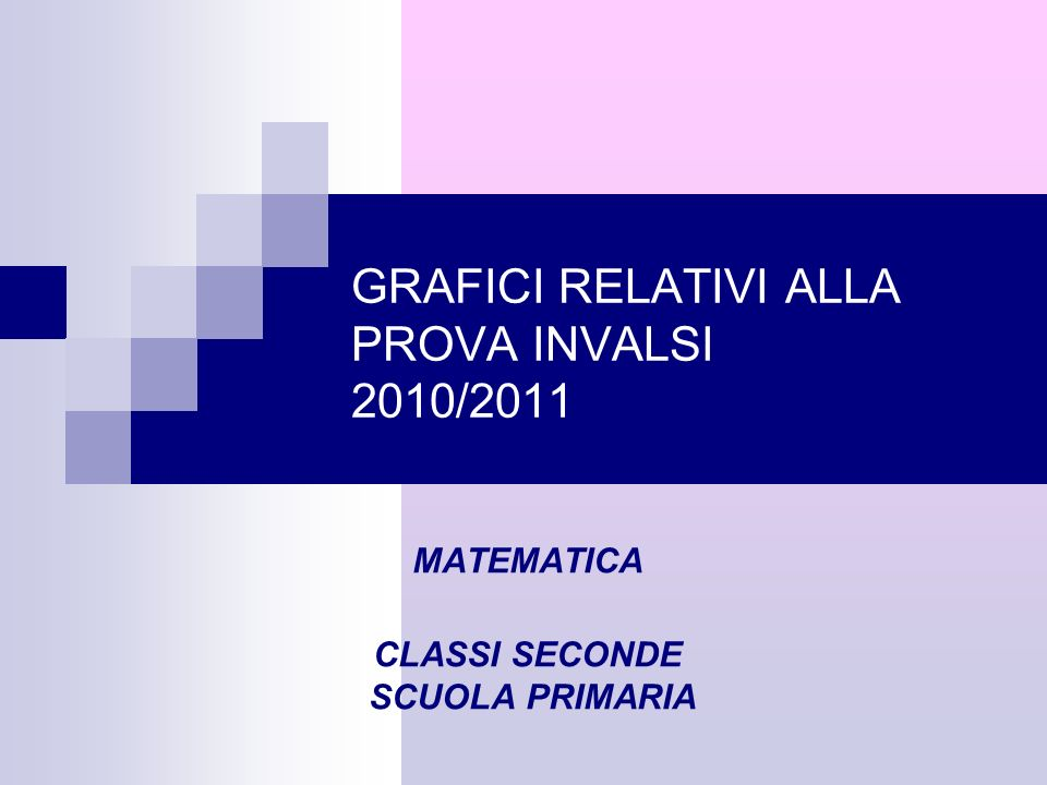 GRAFICI RELATIVI ALLA PROVA INVALSI 2010/2011 MATEMATICA CLASSI SECONDE SCUOLA PRIMARIA