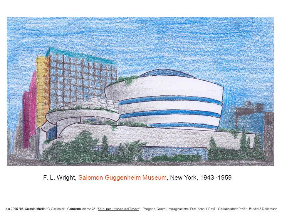 F. L. Wright, Salomon Guggenheim Museum, New York, 1943 -1959