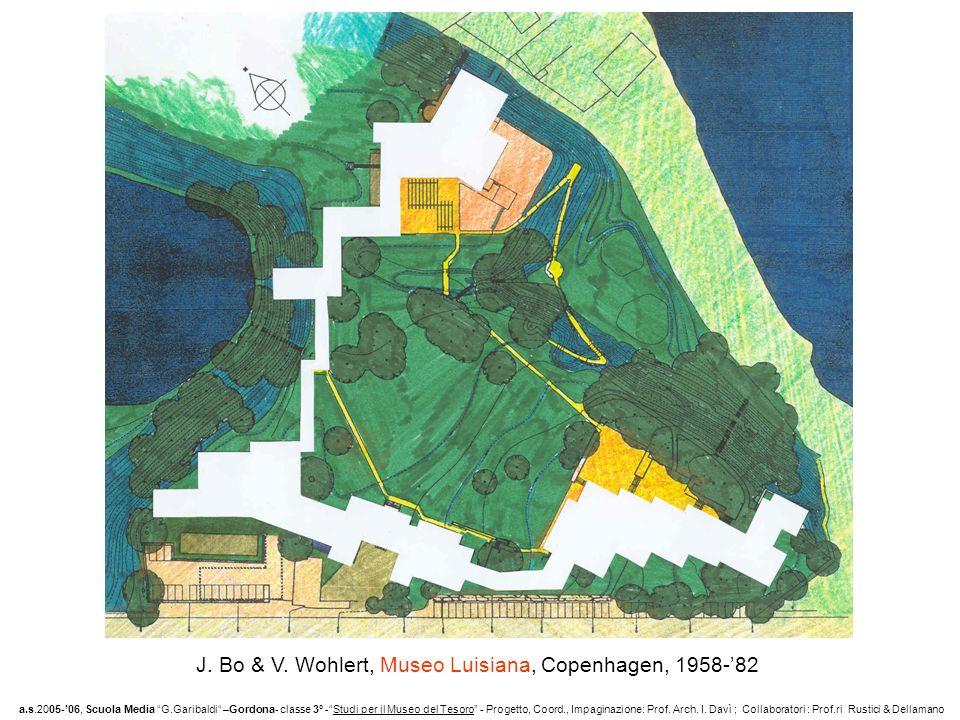J. Bo & V. Wohlert, Museo Luisiana, Copenhagen, 1958-82 a.s.2005-06, Scuola Media G.Garibaldi –Gordona- classe 3° -Studi per il Museo del Tesoro - Pro