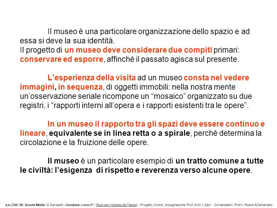 a.s.2005-06, Scuola Media G.Garibaldi –Gordona- classe 3° -Studi per il Museo del Tesoro - Progetto, Coord., Impaginazione: Prof.
