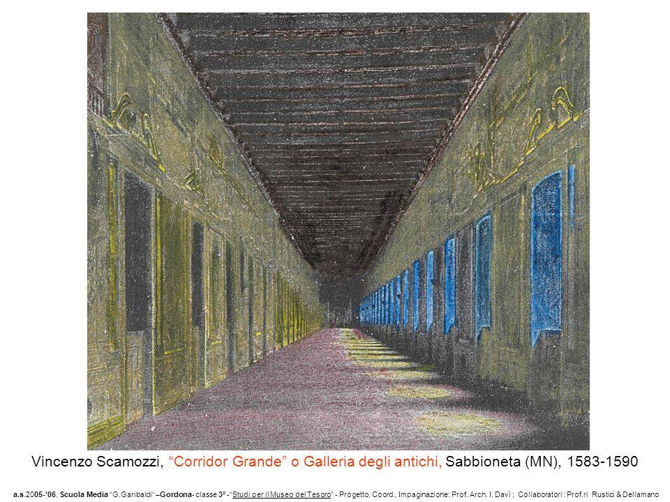 Vista esterna di parte dei 100 mt di lunghezza del Corridor Grande o Galleria degli antichi