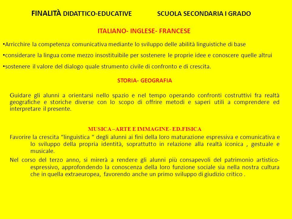 ITALIANO- INGLESE- FRANCESE Arricchire la competenza comunicativa mediante lo sviluppo delle abilità linguistiche di base considerare la lingua come m