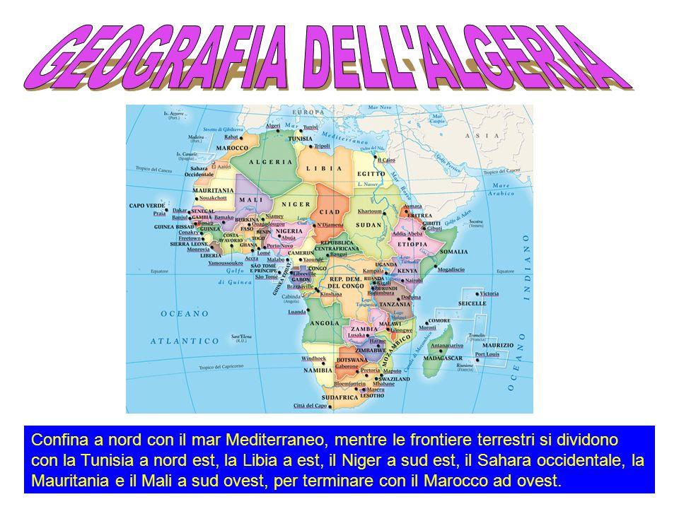 U U fficialmente Repubblica Democratica Popolare di Algeria, in berbero Dzayer , lAlgeria è uno stato dell Africa del nord, appartenente al Maghreb, parzialmente occupato dal deserto del Sahara.