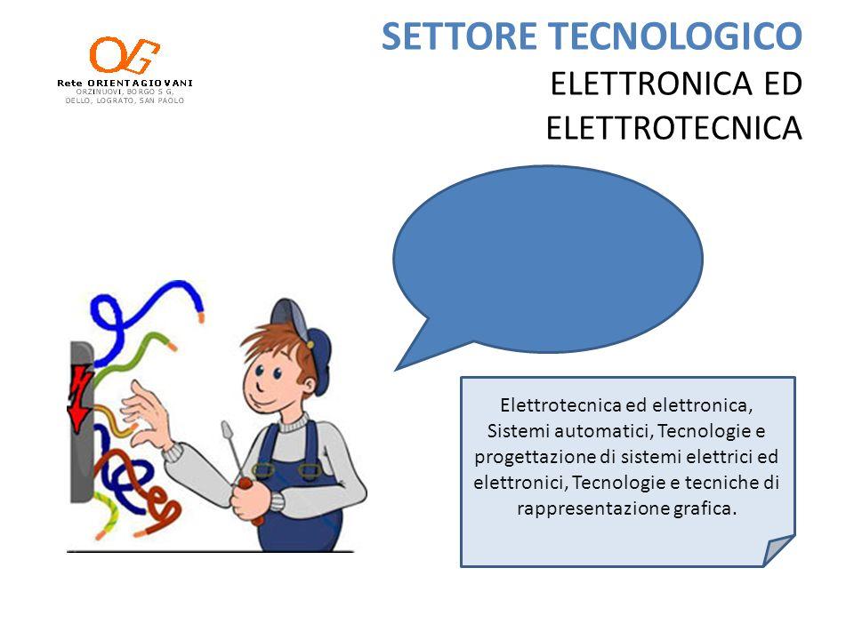 SETTORE TECNOLOGICO ELETTRONICA ED ELETTROTECNICA Elettrotecnica ed elettronica, Sistemi automatici, Tecnologie e progettazione di sistemi elettrici e