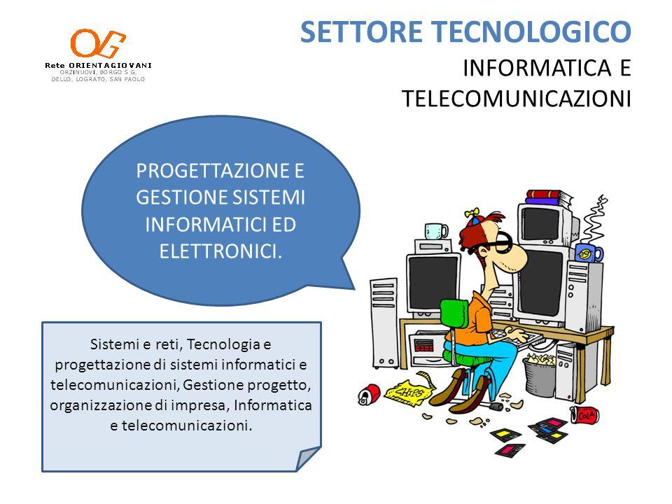 SETTORE TECNOLOGICO INFORMATICA E TELECOMUNICAZIONI Sistemi e reti, Tecnologia e progettazione di sistemi informatici e telecomunicazioni, Gestione pr