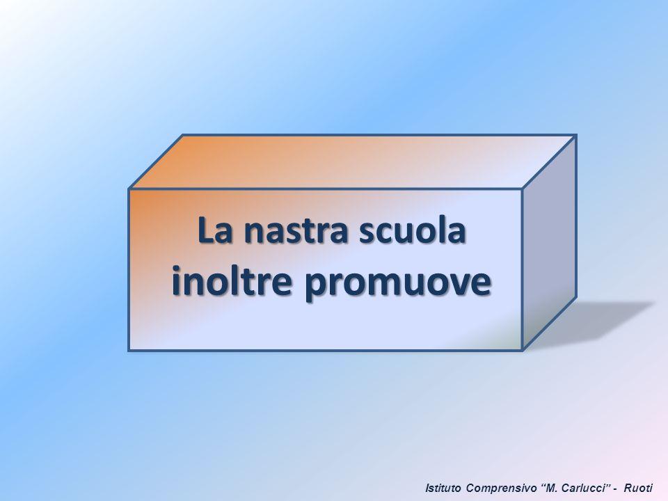 La nastra scuola inoltre promuove Istituto Comprensivo M. Carlucci - Ruoti