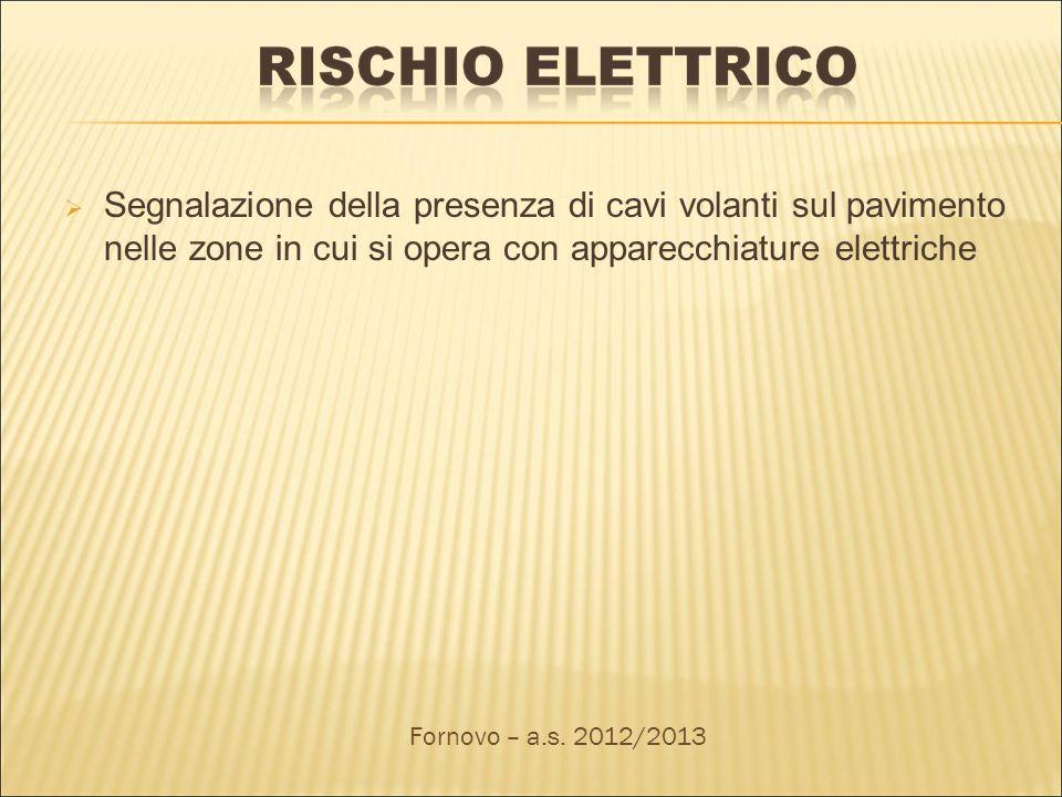 Segnalazione della presenza di cavi volanti sul pavimento nelle zone in cui si opera con apparecchiature elettriche Fornovo – a.s. 2012/2013