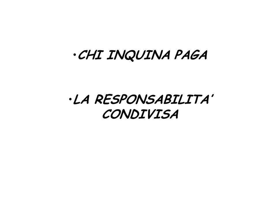 CHI INQUINA PAGA LA RESPONSABILITA CONDIVISA