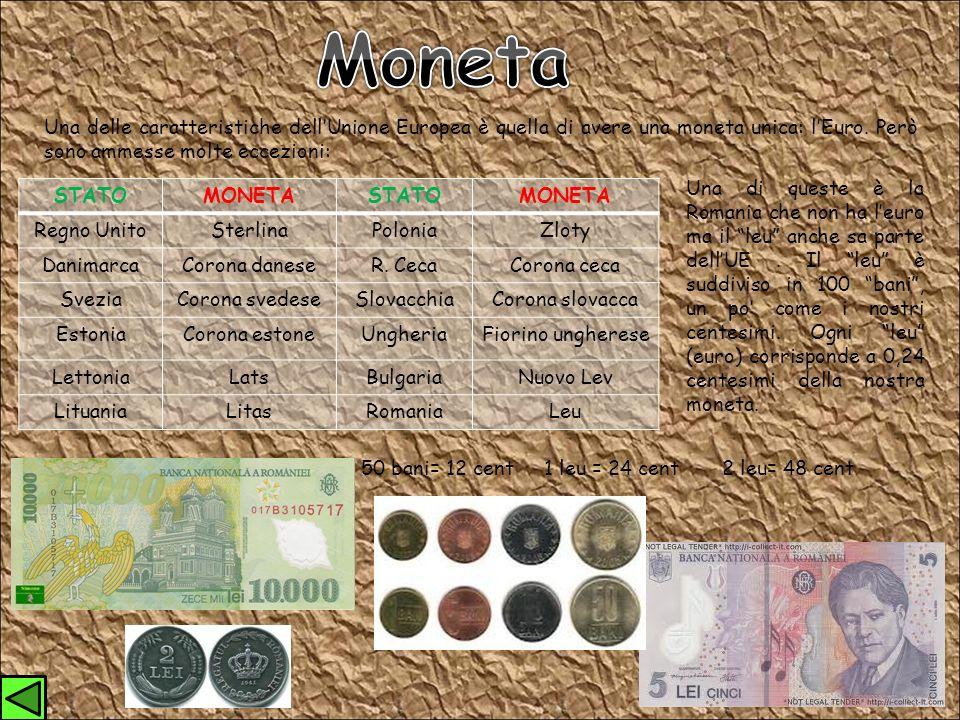 Una delle caratteristiche dellUnione Europea è quella di avere una moneta unica: lEuro.