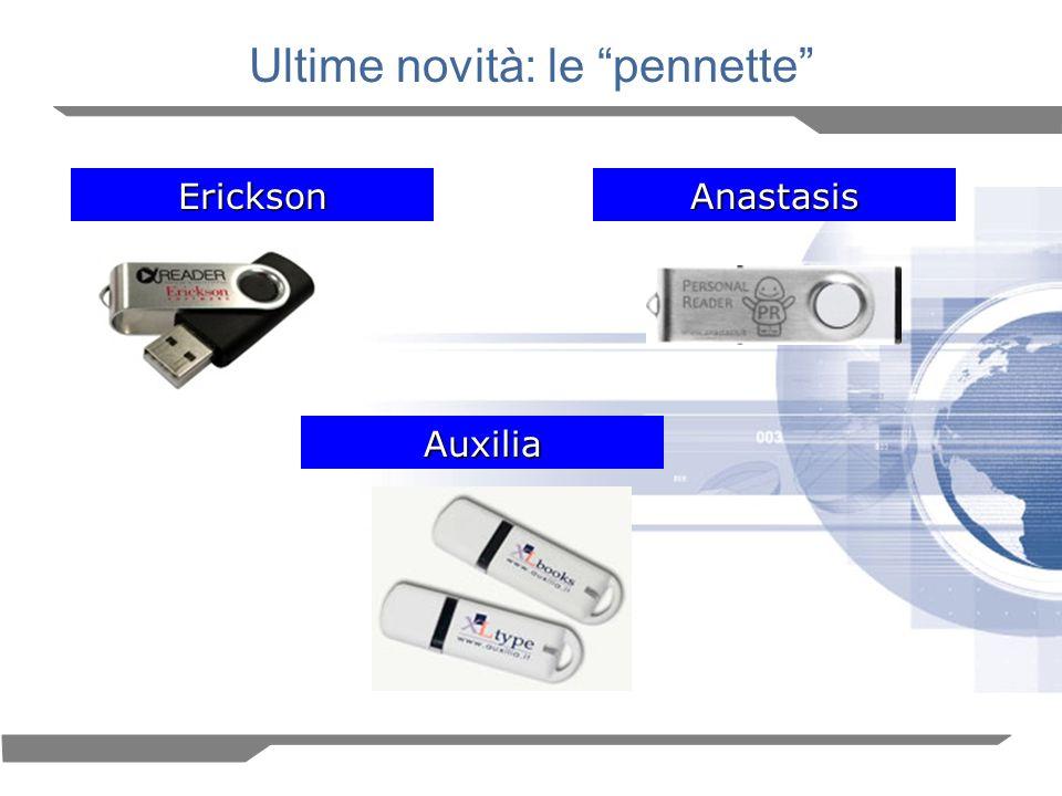 Ultime novità: le pennette EricksonAnastasis Auxilia
