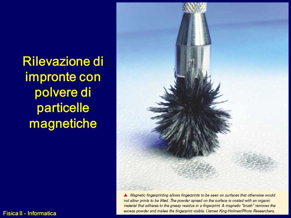 Fisica II - Informatica Campo Magnetico: fatti sperimentali La carica elettrica in moto (ovvero una corrente) produce un campo magnetico (p. es. elett