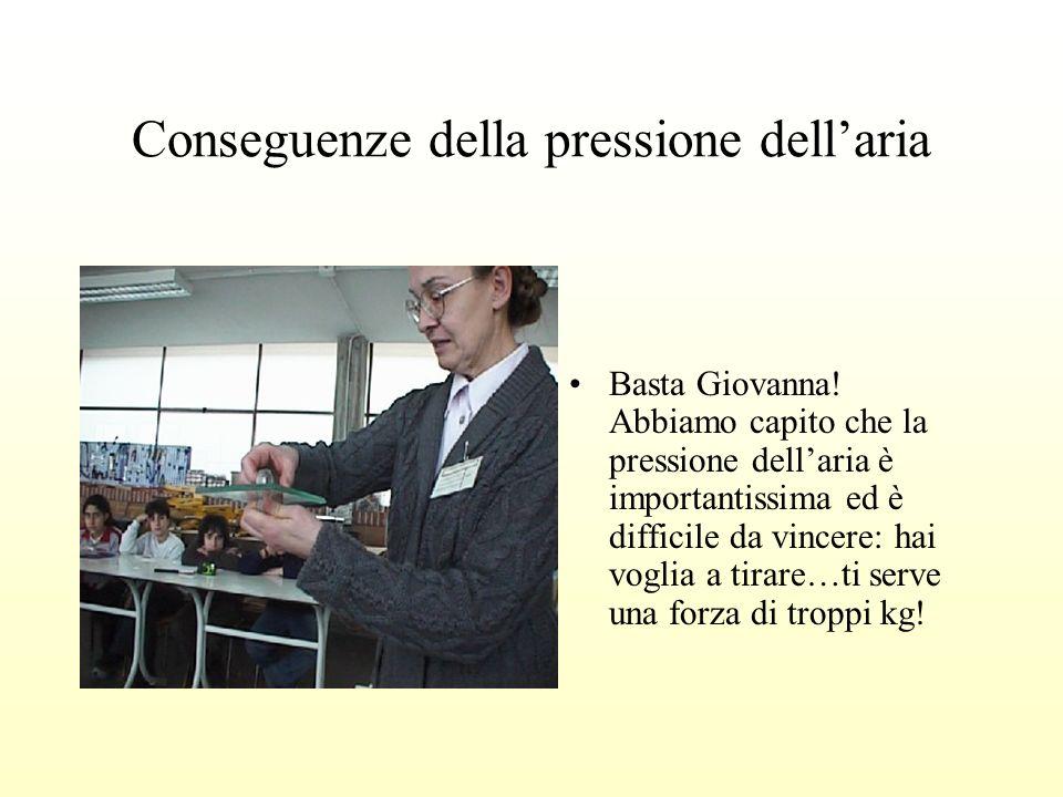 Conseguenze della pressione dellaria Basta Giovanna.